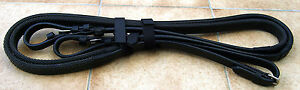 """MINI/SHETLAND/SMALL PONY SOFT LEATHER SUPPLE RUBBER REINS 34"""", 38"""" OR 44"""""""
