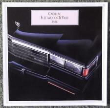 CADILLAC FLEETWOOD Deville le vendite di automobili opuscolo 1986 (stampa canadese) ref-sept85