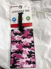 G-FORCE  CAMO PRINT PINK  ID Tag LUGGAGE Travel Accessory