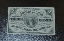 Nice Uncirculated 3 Cent Third Issue Fractional Currency, Light Background