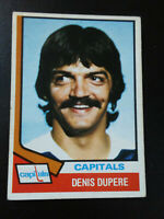 Denis Dupere-1974/75 Opee-chee Hockey-nr.mt/7-no.105-Capitals