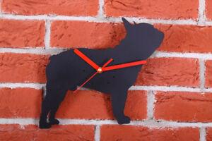 BOSTON TERRIER Shaped Modern Wall Clock Bedroom Home Decor Gift