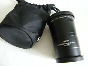 Canon Tele-Converter TC-DC58B 1.5X W/ Caps Lens With Carrying Pouch + Adapter