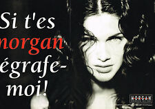 "PUBLICITE ADVERTISING 035  1994  MORGAN mode "" dégrafe-moi""( 2 pages)"