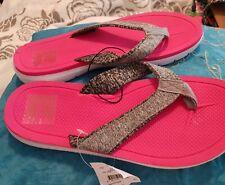 💕💕💕 NEW WOMEN'S KMART pink rubber fabric SANDALS FLAT BALLET SHOES SIZE 9 💟