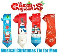 NEW Mens Christmas Musical Tie Novelty Gift Office Staff Party / Dinner