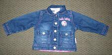 Little Girls Hello Kitty Denim Jean Jacket Size 18 Months