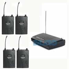 Takstar Wpm-100 Wireless Monitor System Stereo Audio 1 Transmitter 4 Receivers