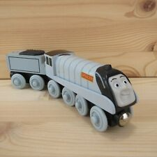 SPENCER + TENDER - THOMAS & FRIENDS WOODEN TRAIN ENGINE - 2003 LEARNING CURVE