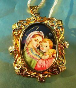 Spilla miniatura di MELI GIOIELLI ITALIA 'Madonna della Seggiola di Raffaello'