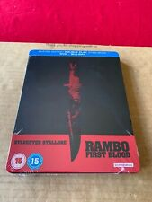 RAMBO: FIRST BLOOD Blu Ray Steelbook NEW AND SEALED Rare Zavvi First Release