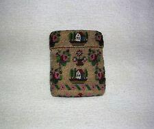 Antique Early American 1700's - 1800's Handmade Beaded Sampler Needle Case