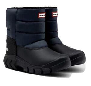 NIB Hunter Kids Navy /Black  Snow Boots Size 13 Boys , 1 Girls