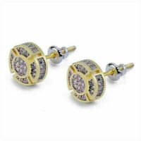 18k Yellow Gold Filled White Topaz Earrings Ear Stud Wedding Gift Party Jewelry