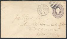 1896 Newfoundland #EN1 3c Victoria PSE, Used St John's To Ottawa