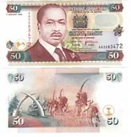 UNC Kenya 50 Shillings (1996) P-36a AA 1st Prefix