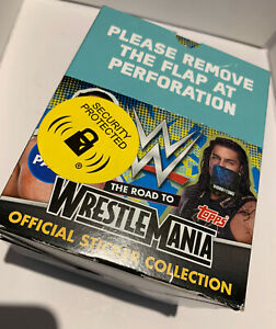 Topps WWE The Road To Wrestlemania OFFICIAL BOX 36 Packets Of Stickers Brand New
