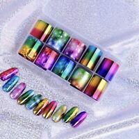 """Transfer Nail Foil Art - 15+ Designs to Choose From - 39.37"""" x .98"""" - 10 pc Set"""