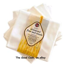 "New Natural Cotton Flour Sack Dish Towel Set of 2 Large Cloths 30""x29"" Preshrunk"