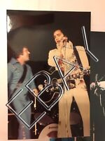 ELVIS CANDID ORIGINAL 3x5 2 PHOTO LOT BY HEIS DAYTON OHIO 10/5/74 052