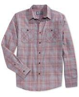 American Rag Men's Sketch Plaid Shirt, Worn Red, Size XL, MSRP $30