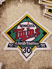 Minnesota Twins 1991 Season 30 Year Anniversary Patch