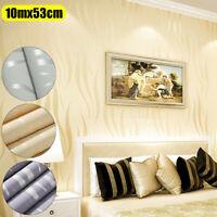 3D Waterproof Embossed Wallpaper Sticker Roll Glitter Effect Wall Paper Room 10M