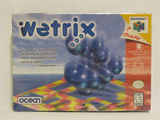 Brand New Factory Sealed Wetrix (Nintendo 64, 1998) N64
