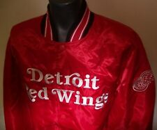 DETROIT RED WINGS STARTER Satin Snap Down Jacket NHL RED SMALL  2X
