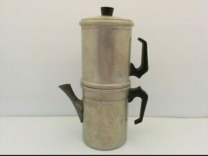 """VTG ALUMINUM STOVETOP FLIP DRIP EXPRESSO/COFFEE MAKER, 2 CUP CAPACITY, 9"""" TALL"""