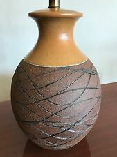 VINTAGE TABLE LAMP BRENT BENNETT CA POTTERY 60's CRESSEY MAXWELL ERA