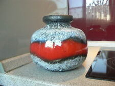 "A.) 70er Jahre fat lava Ball Keramik Vase "" Scheurich "" höhe : 15 cm"