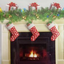 Fireplace Hearth Wall Backdrop Cover Panel Stockings Christmas Holiday Dorm