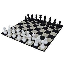 "Giant Plastic Chess Set with a 12"" King - Outdoor Chess Set"