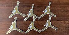 "6 Nike Air Jordan Jumpman DECAL- Color Gold - Size 4.25"" FREEE SHIPP"