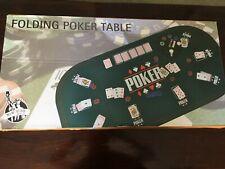 Large Folding Poker Table Top 160cm x 80cm + Poker chip Set