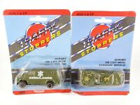 Vintage Traffic Stoppers 1/64 Diecast Military Army Vehicles Lot NEW NOC