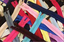 "6"" - 20"" ZIPPER GRAB BAG: Lot of 100 Pcs Assorted Sizes & Colors Nylon Zippers"