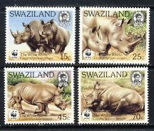 Swaziland beautiful WWF RHINO set mnh vf complete 25.75