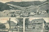 Ansichtskarte Bernau Dorf Schwarzwald 1912 Gasthaus Schulhaus (Nr.750)