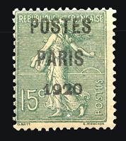 FRANCE Yvert # Preobliterated 25, MNH, VF
