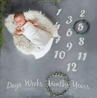 Baby Milestone Blanket and Newborn Milestones Stickers Baby-Shower Gift