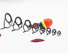 Black Fishing Rod Guides Tips Set Rings Making Building Repair Kit Fishing Rod