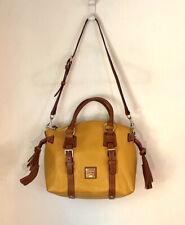 DOONEY & BOURKE BRISTOL Medium Pebble Leather Satchel Yellow