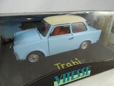 Trabant p50 500 sedán blanco azul 1958-1962 1//18 bos modelo coche con o o..