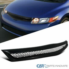 Fit Honda 06-08 Civic 2Dr Coupe Si Black ABS Type JDM Front Bumper Hood Grille R