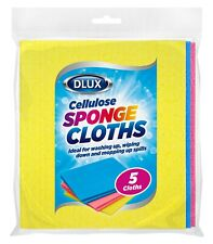 More details for 15 sponge cloths highly absorbent cellulose kitchen surface wipes multi purpose