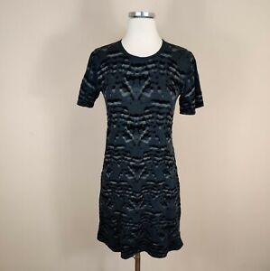 Theyskens Theory 'Cherry' Short Sleeve T-Shirt Dress Black S Small Cotton