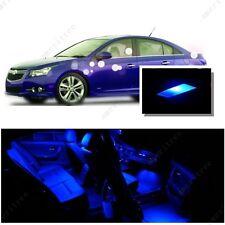 For Chevy Cruze 2011-2015 Blue LED Interior Kit + Blue License Light LED
