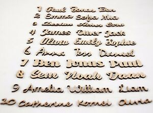 Script Names Letters Words MDF Personalised Book Art Wooden Wood 20 fonts !